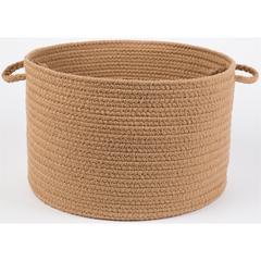 "Rhody Rug WearEver Camel Poly 18"" x 12"" Basket"