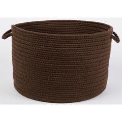 "Solid Walnut Wool 18"" x 12"" Basket"