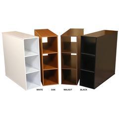 Project Center 3 Bin Cabinet, 11-3/4 x 39 x 36, Walnut