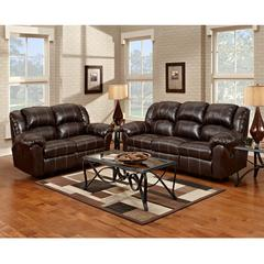 Flash Furniture Exceptional Designs by Flash Reclining Living Room Set in Brandon Brown Leather
