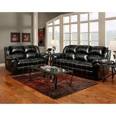 Exceptional Designs by Flash Reclining Living Room Set in Taos Black Leather