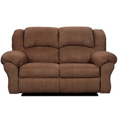 Flash Furniture Exceptional Designs by Flash Aruba Chocolate Microfiber Reclining Loveseat