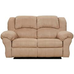 Exceptional Designs by Flash Sensations Camel Microfiber Reclining Loveseat