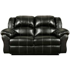 Flash Furniture Exceptional Designs by Flash Taos Black Leather Reclining Loveseat