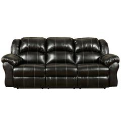 Exceptional Designs by Flash Taos Black Leather Reclining Sofa