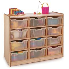CLEAR TRAY STORAGE CABINET 12 TRAY