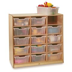 CLEAR TRAY STORAGE CABINET 15 TRAY