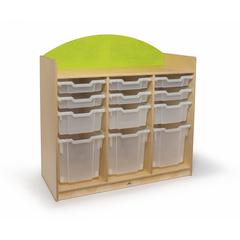 Rainbow Tray Storage Cabinet Green