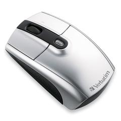 Verbatim Wireless Notebook Laser Mouse - Laser - USB - 3 x Button - Silver - Pack of 1