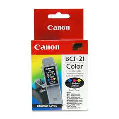 BCI-21Clr Tri-Color Ink Cartridge - Cyan, Magenta, Yellow - Inkjet - 200 Page - 1 Each - Retail
