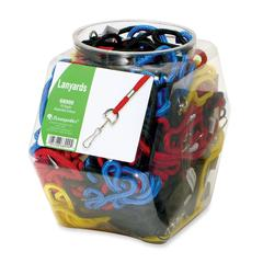 Baumgartens Standard Lanyard Tub Display - Red, Blue, Yellow, Black