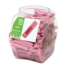 Rubber Eraser Tub Display - Stain Resistant, Smear Resistant, Latex-free, Lead-free - 140 / Display Box - Pink