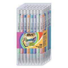 BIC Barrel Colors Mechanical Pencil Set - Lead Size: 0.7mm - Barrel Color: Assorted - 48 / Display Box