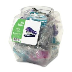 Translucent Plastic Mini Stapler - Desktop Stapler - Teal, Purple, Magenta