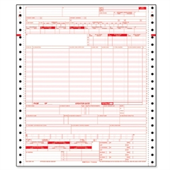 "TOPS UB-04 Continuous Billing Form - 2 Part - Carbonless - 11"" x 9.50"" Form Size - 1000 / Carton"