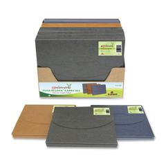 "SJ Paper Elements Tuck-N-Lock Expanding File - Letter - 8.50"" x 11"" - 1.50"" Expansion - 0.21"" - Paper - Assorted - 10 / Carton"