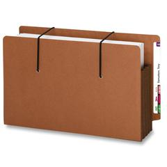 "Smead End Tab Secure Pocket 73601 - Legal - 8.50"" x 14"" - 3.50"" Expansion - Redrope - Dark Brown - 10 / Box"