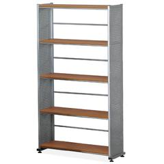 "Eastwinds 995 Accent Bookcase - 31.3"" x 11"" x 58"" - Steel, Thermofoil - 5 x Shelf(ves) - Medium Cherry"