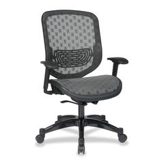 "Office Star Space 829 Series Duragrid Seat/Back Chair - Charcoal Black - Charcoal Seat - 27.5"" x 24.3"" x 45.3"" Overall Dimension"