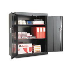 "Assembled 42"" High Storage Cabinet, w/Adjustable Shelves, 36w x 18d, Black"