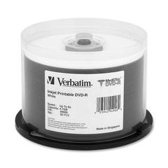 MediDisc 94906 DVD Recordable Media - DVD-R - 8x - 4.70 GB - 50 Pack Spindle - Inkjet Printable