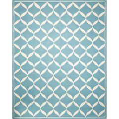 Decor Aqua/White Area Rug