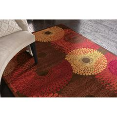 Graphic Illusions Brown Area Rug