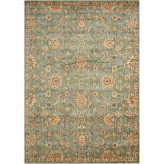 """Ancient Times """"Ancient Treasures"""" Teal Area Rug"""