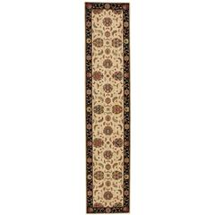 Living Treasures Ivory/Black Area Rug
