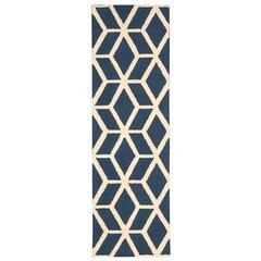 Linear Blue/Ivory Area Rug