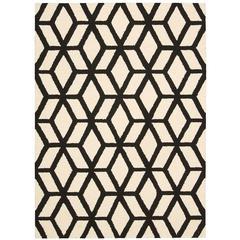 Linear Ivory/Black Area Rug