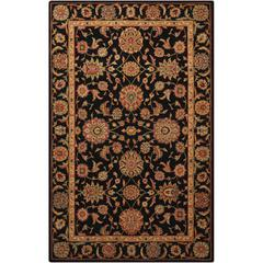 Living Treasures Black Area Rug
