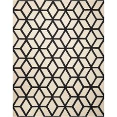 Linear Ivory/Black Area Rug