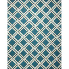 Linear Teal/Ivory Area Rug