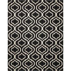 Linear Black/White Area Rug
