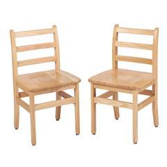 "16"" North American Oak Ladderback Chair, set of 2"