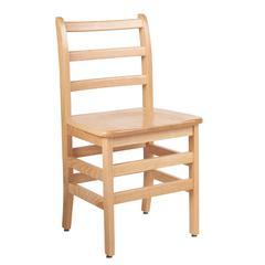 "18"" North American Oak Ladderback Chair, set of 2"