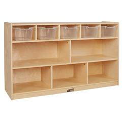 Birch 5+5 Storage and Tray Cabinet - Clear