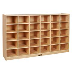 Birch 30 Cubby Tray Cabinet