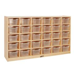 Birch 30 Cubby Tray Cabinet - Clear
