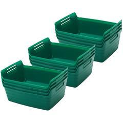 Small Bendi-Bin with Handles - Green, set of 12
