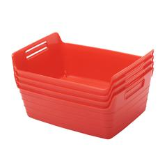 Small Bendi-Bin with Handles - Red, set of 12