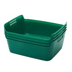 Medium Bendi-Bin with Handles - Green, set of 12