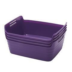Medium Bendi-Bin with Handles - Purple, set of 12