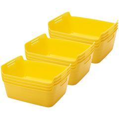 Medium Bendi-Bin with Handles - Yellow, set of 12