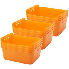 Large Bendi-Bin with Handles - Orange, set of 12