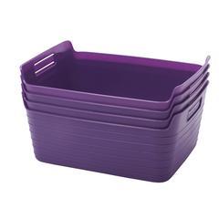 Large Bendi-Bin with Handles - Purple, set of 12