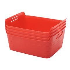 Large Bendi-Bin with Handles - Red, set of 12