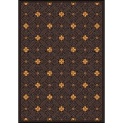 """Any Day Matinee - Theater Area Rugs Fort Wood, 7'8"""" x 10'9"""", Brown"""