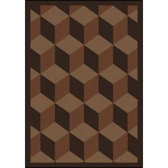 "Kaleidoscope - Whimsical Area Rugs Highrise, 3'10"" x 5'4"", Chocolate"